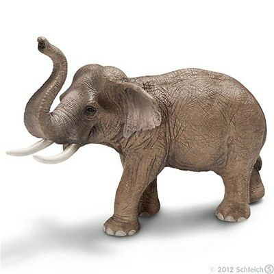 Schleich Male Asian Elephant Model - Wild Life Role Play Figure Toy (14653)