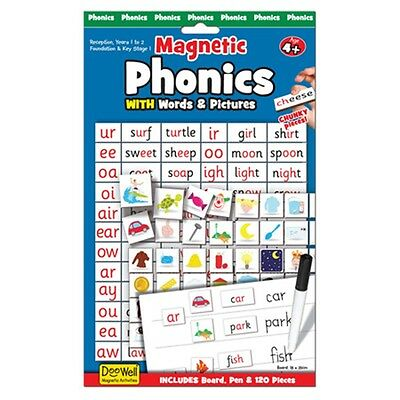 Phonics Magnetic Activity - Games Fiesta Crafts Childrens Picture Spelling
