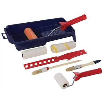 9 Piece Silverline Decorators Roller & Brush Set - Pce & Hand Tools Decorating