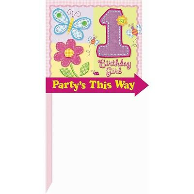 Amscan International Hugs And Stitches Girl Directional Lawn Sign - Birthday