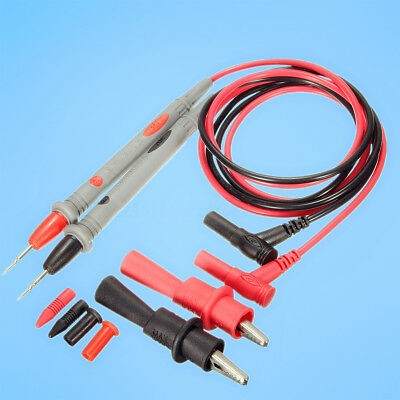 20A Probe Test Lead +Alloy Alligator Clips Clamp Digital MultiMeter Multi Meter