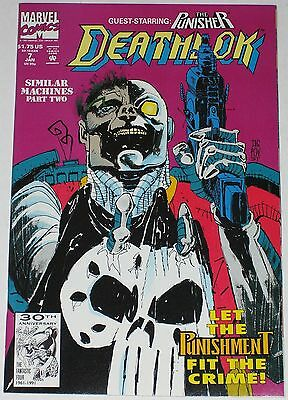 Deathlok #7 from Jan 1992 VF to VF/NM Punisher