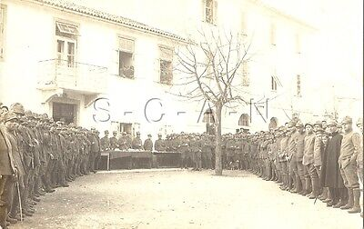WWI Italian Army Large Photo- Regia Esercito- Soldier- Uniform- Hat- Formation