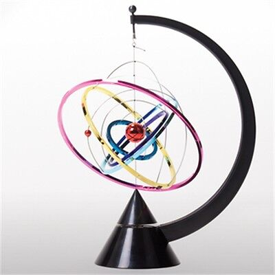 Orbit Kinetic Mobile Executive Toy - Colourful Bright Rainbow Planet Office