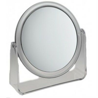 Large Clear Famego Stand Mirror - Round - Beauty Makeup Cosmetic Accessory