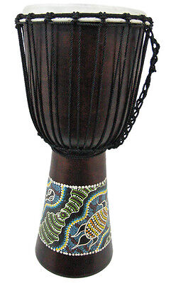 Dot Painted Djembe Drum 6 1/2 In. X 12 In.