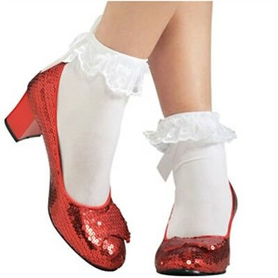 Small Dorothy's Ruby Slippers Shoes - Dorothy Wizard Of Oz Fancy Dress Costume