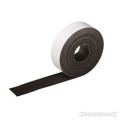 25mm x 3m Flexible Magnetic Tape - Silverline 25mm
