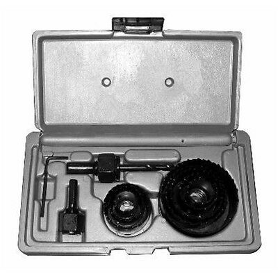 11 Piece Hole Saw Kit In Blow Case - Hole 19-64mm Cutters 11pc Free P&p New