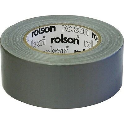 50mmx 50m Cloth Duct Tape - Rolson 60382 Gaffer Single Sided Repairs Diy