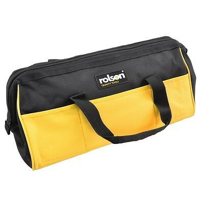 """18"""" 13 Pocket Durable Tool Bag - Rolson 455mm Long 18"""" Builder Contractor Carry"""