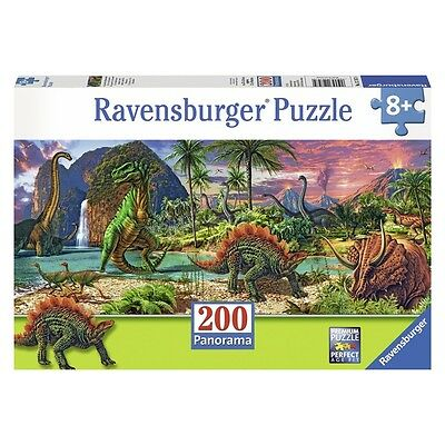 Ravensburger In The Land Of Dinosaurs Panorama (2x-large, 200-piece) - Xxl200