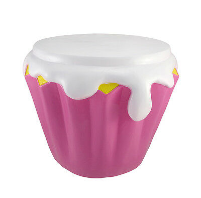 Pink Candy Cupcake Children`s Stool 16 In.