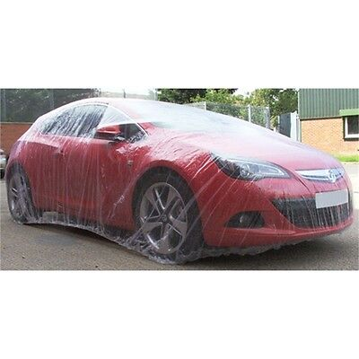 Small Clear Polythene Car Cover - Quick Easy Removal 6m Long 3.5m Wide