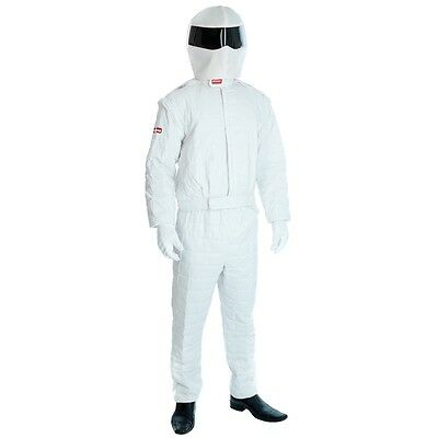 Extra Large White Adults Racing Driver Costume - x Mens Suit Fancy Dress