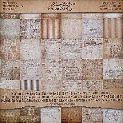 """12"""" x 12"""" French Industrial Paper Stash - Idea-ology Pad Card 12"""" 12"""" Packet Of"""