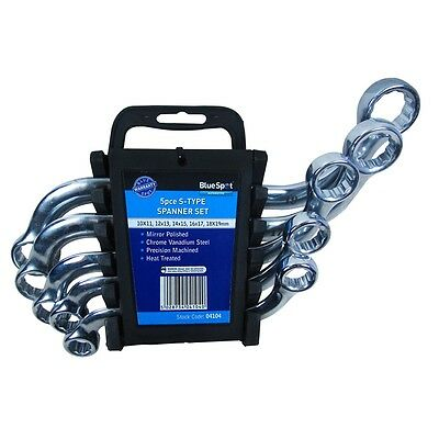 10-19mm Chrome Vanadium S Type Spanners 5 Piece Set - Blue Spot 5pce - Spanner
