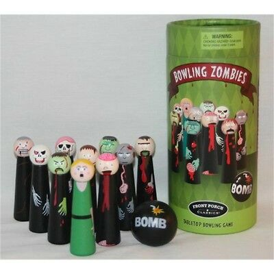 Front Porch Bowling Zombies - Game Set Indoor Table Top Party Toy Skittles