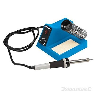 Silverline 40w Soldering Station - Analogue Iron Stand Kit Set Tool