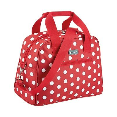 36 x 19 x 25cm 11.5l Red Polka Dot Coolmovers Holdall Style Cool Bag - Design