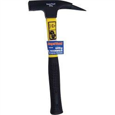 600g Roofing Hammer With Rubber Grip - Supatool Hand Tools Workshop Accessory
