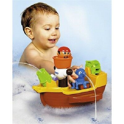 Tomy Pirate Ship Bath Toy - Squirting Baby Toddler Bathtime Fun Activity
