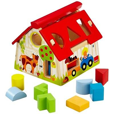 Goula Wooden Farm Shape Sorting Box