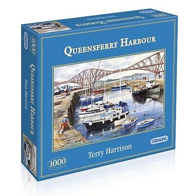 Gibsons Queensferry Harbour Jigsaw Puzzle (1000 Pieces)
