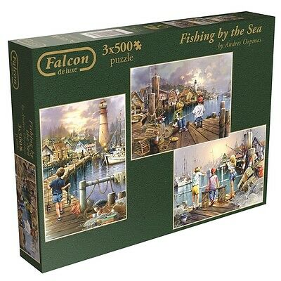 Falcon De Luxe - Fishing By The Sea Jigsaw Puzzles In A Box