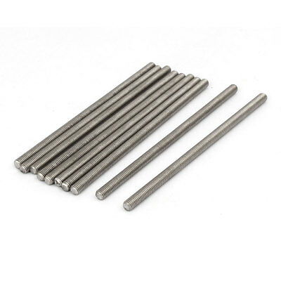 M5 x 110mm 304 Stainless Steel Fully Threaded Rod Bar Studs Fasteners 10 Pcs