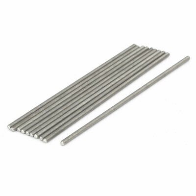M3 x 110mm 0.5mm Pitch 304 Stainless Steel Fully Threaded Rods Hardware 10 Pcs