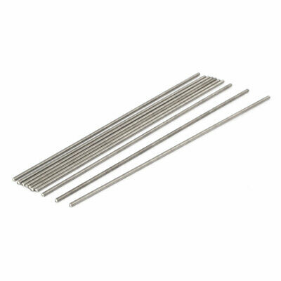 M3 x 190mm 0.5mm Pitch 304 Stainless Steel Fully Threaded Rod Silver Tone 10 Pcs