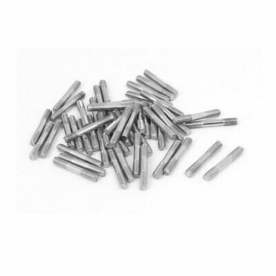 M3x20mm 304 Stainless Steel Double End Threaded Stud Screw Bolt 50pcs