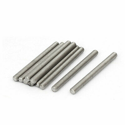 M5 x 60mm 0.8mm Pitch 304 Stainless Steel Fully Threaded Rod Bar Studs 10 Pcs