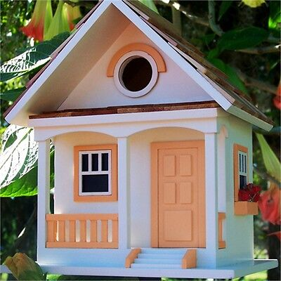 Peaches And Cream Cottage Bird House - & Bird Attract Wild Birds Sleeping