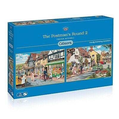 2 x 500pc The Postman's Round Jigsaw Puzzle