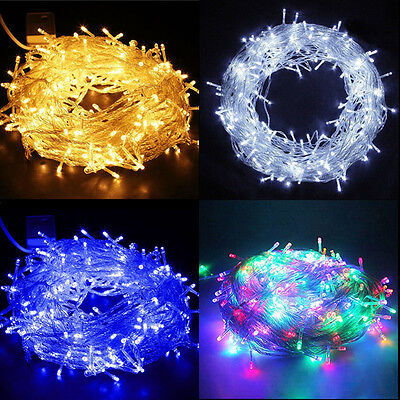 100/200/300/400/500 LED String Fairy Lights Indoor/Outdoor Xmas Party Uk Plug