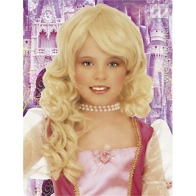 Blonde Girl's Glamour Wig - Girls Childs Wavy Princess Queen Fancy Dress