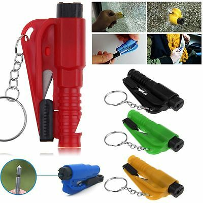 Car Escape Keychain Tool Mini Emergency Safety Hammer Belt Cutter Window Breaker