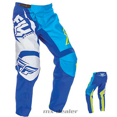 FLY Racing F-16 blau weiß Hose mx motocross Enduro Quad 32 34 36 38 40