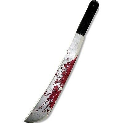Jason Friday 13th Plastic Machete - Vorheees The Blood Stained Fancy Dress Prop