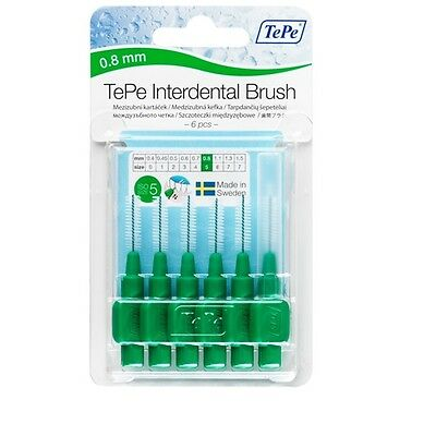 0.8mm Vert Brosses Interdentaires Tepe - Dents Gomme Nettoyage Propre Bouche