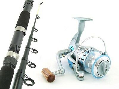 SARATOGA Telescopic 10'0 15kg Surf Beach Spinning Fishing Rod and Reel Combo