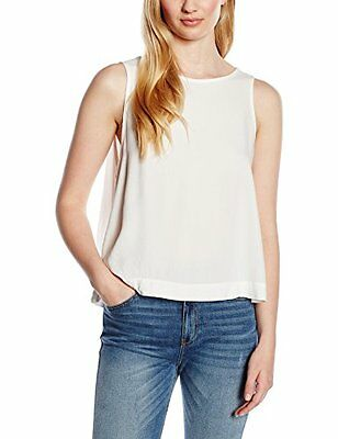 Double Agent Back Frill Top, Camicetta Donna, Bianco, M