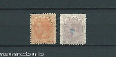 ESPAGNE - 1882 YT 193 à 194 - TIMBRES OBL. / USED