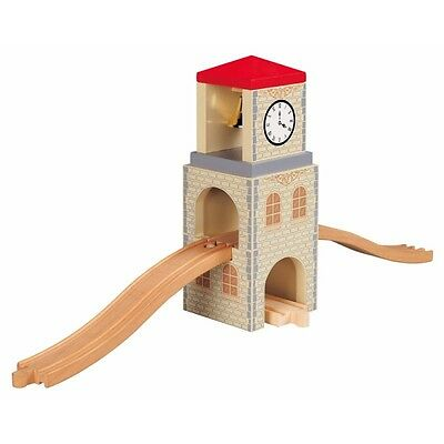Wooden Railway Clock Tower Connection - Toys For Play Train Set Childrens Kids