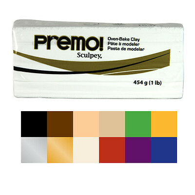 Sculpey Premo Polymer Clay 454g Colours. Artists Craft Colour Clay Block.
