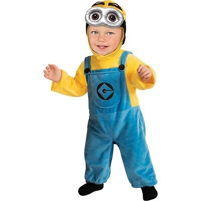 Toddlers Dave Minion Costume - Toddler Despicable Me Kids Fancy Dress Party
