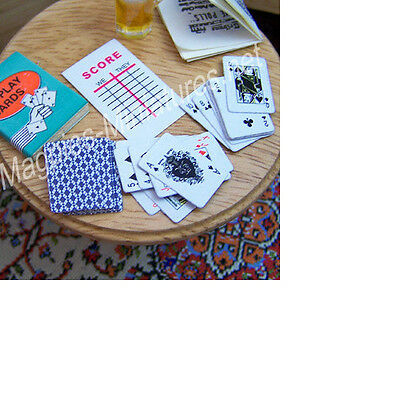 dolls House 12th scale Playing Cards