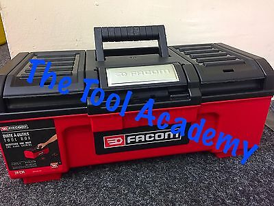 "FACOM NEW RELEASE SELF CLOSING 16"" TOOLBOX 39 X 22 X 16cm - WITH INNER TRAY"